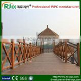 Outdoor security fence and gates for outdoor trestle and marina handrailing with composite plastic deck