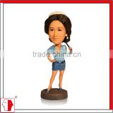 MING PEOPLE custom 7 inches sexy lady bobble head doll for business gift,home decor,personalized birthday gift as mini you
