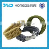 9'' paracord survival bracelet outdor use