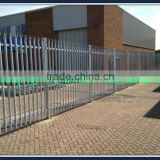 Powder coated steel picket fence as enclosure