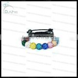 Hot sale 11 balls colorful shamballa multicolor bracelet