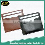 Custom leather card holder, wholesale men leather passport cover,Id Card Working Card Badge Holder