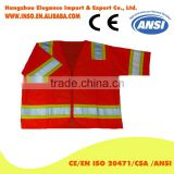 china safety vest OEM Two Stripes cheap safety reflective vest Wholesale police reflective mesh safety vest