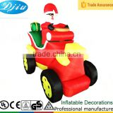 DJ-138 6ft red black inflatable merry christmas santa claus outdoor older decoration decorations for cars