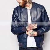 Waxed leather jacket Genuine sheepskin Leather Jacket for men high quality
