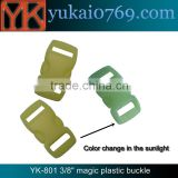 Yukai color change quick connect buckle for backpack/plastic clasp buckle for bags