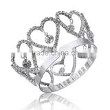 Kids Girls Glitter Small Crystal Rhinestone Twinkle Princess heart Crown Tiara Girl Wedding Birthday Prom Hair Accessories