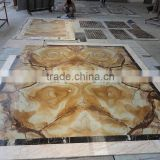 modern pattern home marble floor design with yellow onyx
