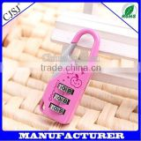 2015 CJSJ High Quality Cute Safe Resettable Combination Luggage Lock For Children and Traveler