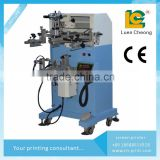 mug plastic paper cup Bottle bucket plane cylinder Screen Printing Machine LC-PA-300E screen printer for metal , pen shampoo