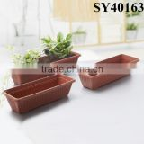 Plastic pots for outdoor garden rectangular large flower pot                                                                         Quality Choice