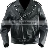 Mens Black Leather Motorcycle Jacket, Classic Style Motorbike Leather Jacket, Leather Jacket for Men