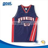 Wholesale polyester customized blue full sublimation club men's custom basketball jersey