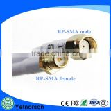 RP-SMA Female to RP-SMA male RF Coax Adapter RG58 Cable(white)