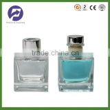 Square reed diffuser glass bottle with stopper rubber cork cap