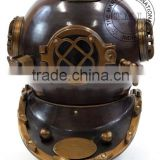 ANTIQUE DIVER'S HELMET - MARK V DIVING HELMET IN ANTIQUE FINISH - NAUTICAL DIVER'S HELMET - COLLECTIBLE MARINE GIFT