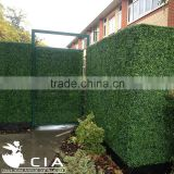 Exterior UV Artificial Fake Boxwood Hedge Fence Panel in Planter for Garden Privacy Screens