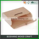 Square Shape Natural Wood color Birch Bark Tea Box