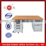 Mobile double cabinet long study computer table desk for internet cafe
