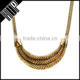 Best selling fashion tribe antique gold vintage chain necklace