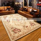Wilton Floral Wall To Wall Wool Felt Sculptured Rugs And Carpets