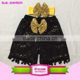 Hottest! girls children new arrival summer baby sequin lovely baby clothing little kids pom pom shorts                                                                                                         Supplier's Choice