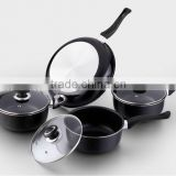 Aluminum 7pcs kitchen cookware sets nonstick frying pan suace pot stock pot seen as on TV
