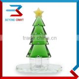 Modern Crystal Glass Christmas Tree Sculpture Model