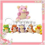 Promotional cartoon bath sponge,bear shaped bath sponge