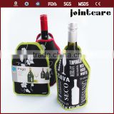 T-shirt/ reusable bottle cooler single beer bottle cooler neoprene 6-pack beer bottle cooler