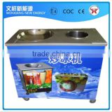 commercial flat pan fried ice cream machine with one cold storage barrel