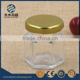 30ml clear hexagon glass food jar honey jar                                                                                                         Supplier's Choice