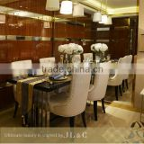 RSL01 dining table Luxury Dining Room New Design Stainless Steel Dining Table Wooden Dining Table JL&C Furniture