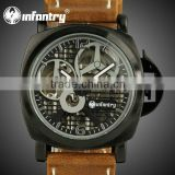 INFANTRY Men's Leather Mechanical Quartz Limited Edition Watch