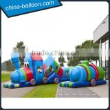 0.55mm pvc tarpaulin inflatable tunnel train capacity 10 persons