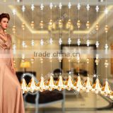 crystal glass pearl beads curtain for wedding decor hanging door beads curtain christmas