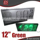 12inch Green petrol station LED Fuel Pricing Signs, led gas price sign, led petrol price