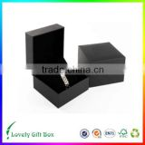 custom cardboard black paper with pillow insert and jacket watch gift box china supplier