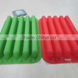 2014 new design lfgb and fda food safety Factory Promotion gifts 5 bars Silicone Ice Tray