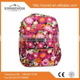 High quality cotton bright quilted fabric duffle bride racing backpack