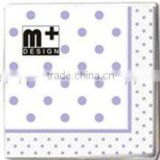 Wholesale Purple and White Spot Napkins POLKA DOT Birthday Party 33cm Disposable 3ply Paper Napkins- 8 Colours available