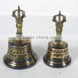 TIBBET MUSICAL INSTRUMENT/MANJIRA/MANJEERA/BRASS BELLS/BLACK FINISH BELLS /BRASS BELLS
