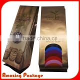 Logo Printed Stand Up Coffee Bag packaging bag / 250 gram coffee bean packaging bag /Foil bag for coffee packaging