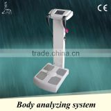 High quality body analyzer machine analyzing for Inorganic salt, body fat, bone mass, muscle fat, etc
