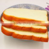 High Quality Soft New Products Artificial Toast Bread Slice Model With Cream Smell For Bakery Shop Machine Sell Display Decor