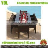Youdeli Barcelona Rectangular Brown Rattan Garden Furniture Table and 8 Chairs Dining Set