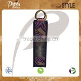 PP laminated jute one bottle wine bag with cane handle & with front window