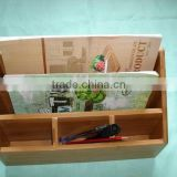 bamboo office stationery rack