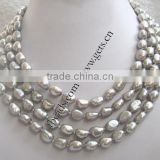 Gets.com freshwater pearl pearl necklace grey genuine