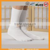 student sports school solid plain children crew combed cotton basic comfortable socks white socks